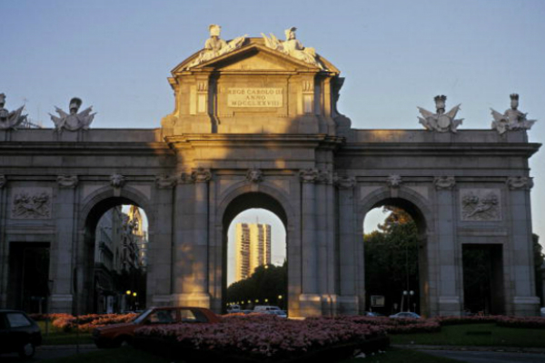 Puerta de Alcalá en Madrid, España. (Getty Images)