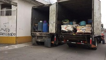Entre las sustancias incautadas en Michoacán están fenil, propanona, acetato de plomo, de sodio y de etilo, acetona, mezcla de metanfetamina y fenilacetona, diversos ácidos, alcohol, metanol, bicarbonato, y químicos diluidos.