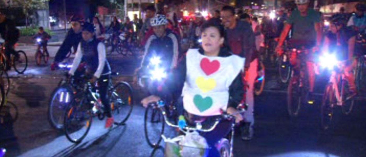 Realizan paseo ciclista Cupido en la CDMX. (Noticieros Televisa)