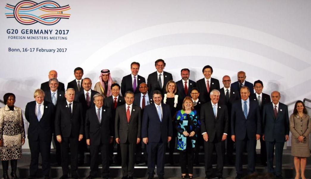Reunión de ministros de Exteriores del G20 en Bonn, Alemania (Twitter SRE)