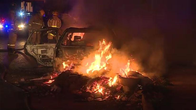 Se incendian autos en Monterrey, Nuevo León. (Noticieros Televisa)