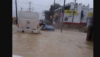 Se registran fuertes lluvias en Tijuana. (Twitter @webcamsdemexico vía @jorge_luis490)