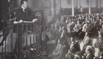 Sesión en el Teatro de la República, 1917 (Notimex)