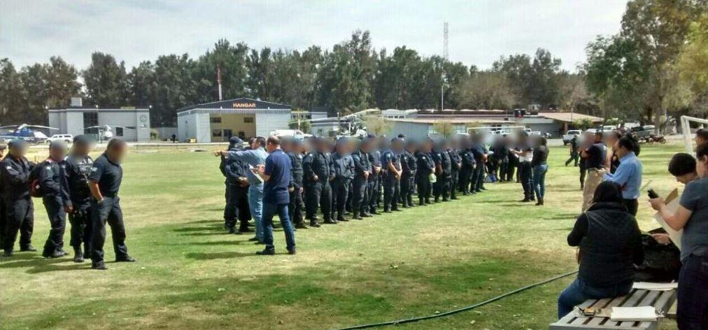 SSP de Michoacán presenta a 152 policías ante la Fiscalía Regional