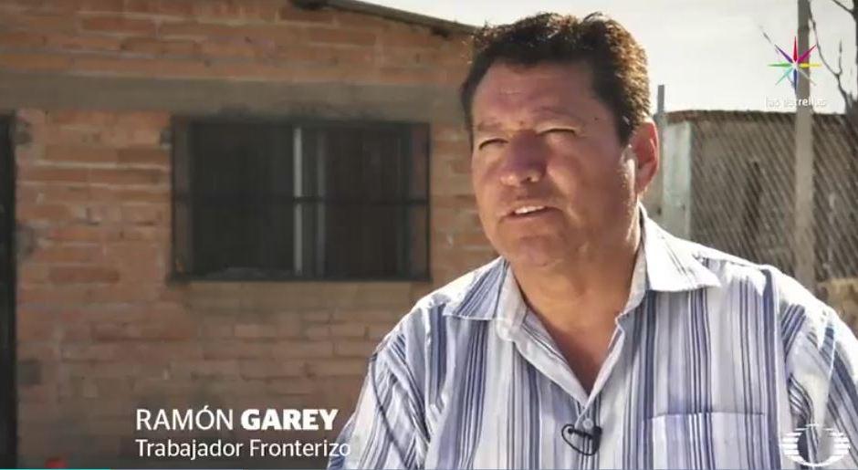 Ramón tiene la residencia permanente en EU desde 1988, vive en Sonora, México, y desde entonces, diariamente cruza la frontera para trabajar; el miércoles pasado, Ramón fue advertido por agentes migratorios de que tendría que mudarse. (Noticieros Televisa)
