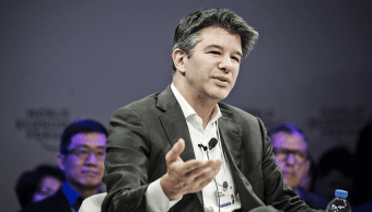 Travis Kalanick, director general de Uber, habla durante una conferencia en China.