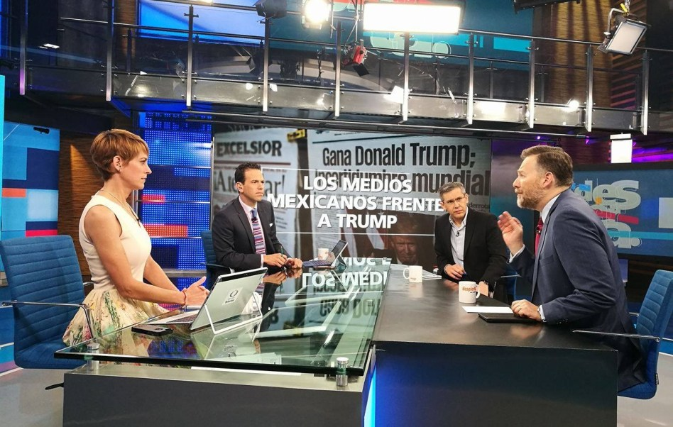Javier Garza y Leo Zuckerman conversan sobre el papel de los medios en tiempos de Donald Trump (Twitter, @NTelevisa_com)