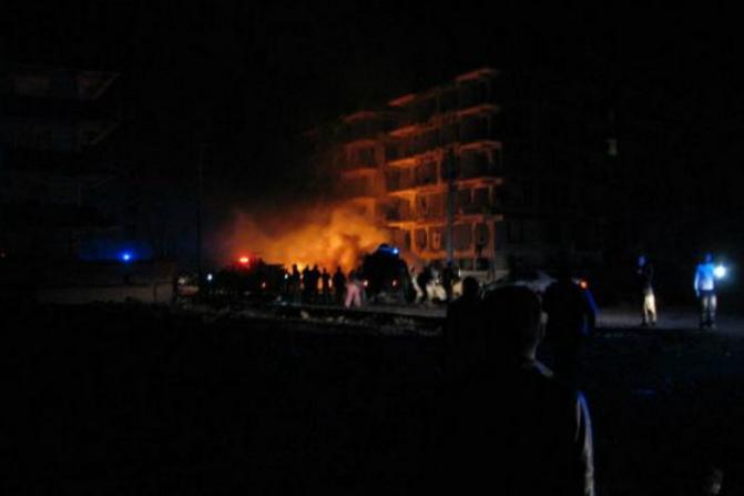 La explosión se registró frente a un complejo de viviendas para miembros de la judicatura (Diario Habertürk)