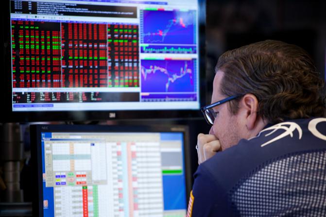 Operador de la Bolsa de Nueva York. (Getty Images)