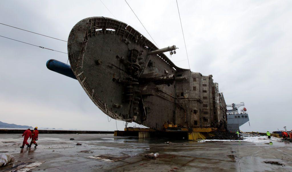 304 personas murieron tras el naufragio del ferry Sewol en Corea del Sur.
