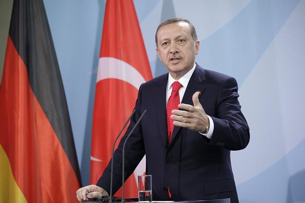 El primer ministro turco, Recep Tayyip Erdogan ofrece una conferencia de prensa en Berlín. (Getty Images/archivo)