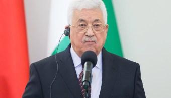 El presidente palestino Mahmud Abbás habla con los medios de comunicación. (Getty Images/archivo)