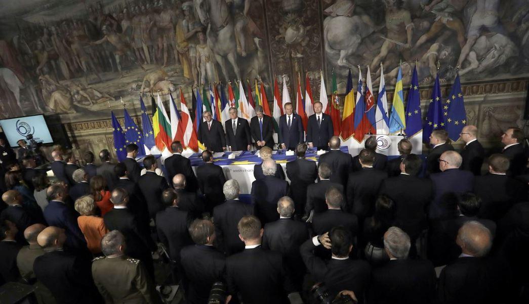 En Roma participan los 27 jefes de Estado y de Gobierno de los países de la UE.