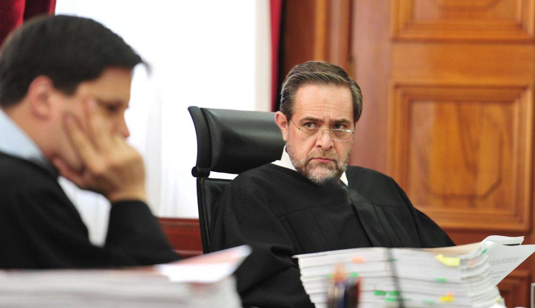 El ministro de la Suprema Corte de Justicia de la Nación Jorge Mario Pardo Rebolledo, en la sesión sobre el uso lúdico de la marihuana. (EFE)
