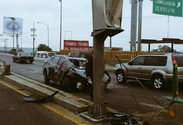 Por más de cuatro horas, la circulación hacia la Ciudad de México se vio afectada (Twitter @alertasurbanas)