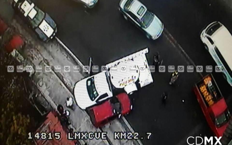 Accidente vehicular provoca problemas viales en la México-Cuernavaca. (Twitter/ @ciudad_segura)