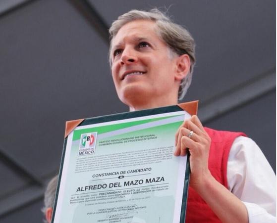 Alfredo del Mazo fue electo candidato del PRI al gobierno del Edomex.