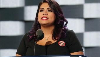 Astrid Silva, dreamer y activista que respondió en español el primer discurso de Donald Trump en el Congreso. (Getty Images)