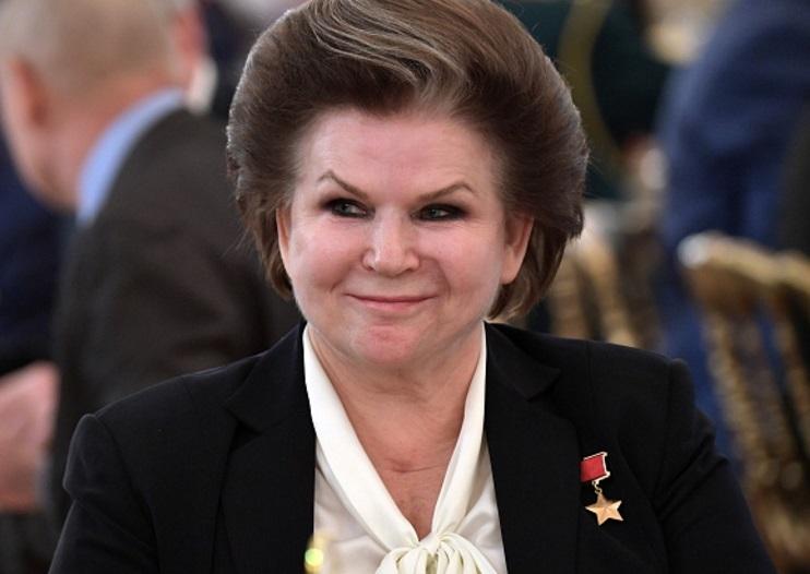 La cosmonauta rusa Valentina Tereshkova asiste a una recepción de gala en 2016 (Getty Images)
