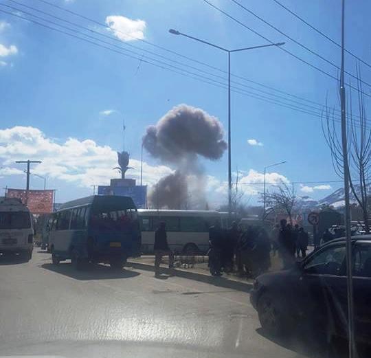 Una explosión tuvo lugar cerca de un complejo de la Policía de Kabul. (Twitter: @pajhwok)