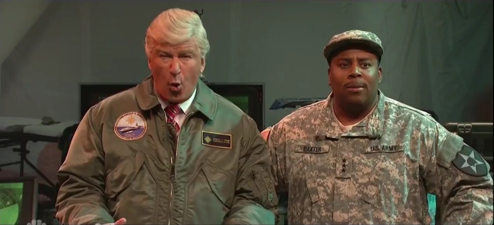 Alec Baldwin hace una imitación de Donald Trump en el programa Saturday Night Live (@nbcsnl)
