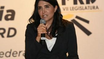 Alejandra Barrales, presidenta nacional del PRD.(Twitter @Ale_BarralesM)