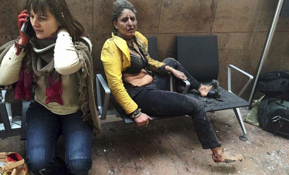Víctimas de la explosión en el aeropuerto de Bruselas, Bélgica. (AP, archivo)