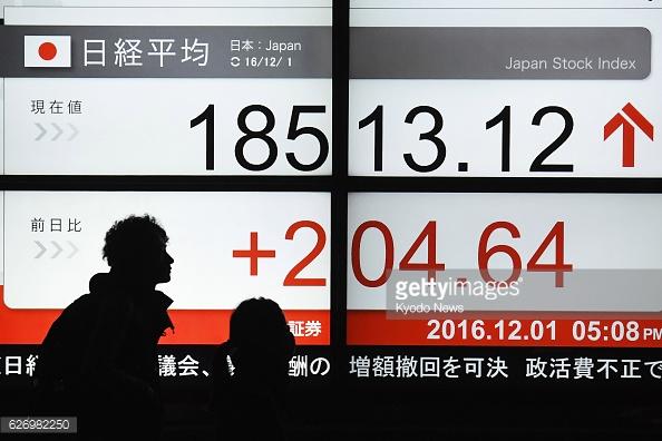 Tablero de la Bolsa de Tokio. Especialistas consideran que el mercado nipón puede romper su récord. (Getty Images)