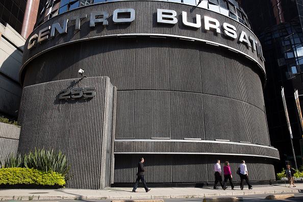Fachada de la Bolsa Mexicana de Valores. (Getty Images)