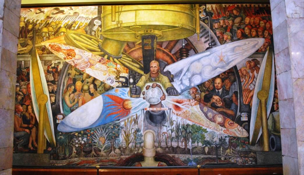 Diego rivera, rockefeller, david rockefeller, mural destruido