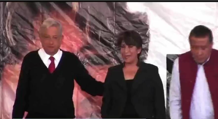 Delfina Gómez Álvarez toma protesta como candidata de Morena a la gubernatura del Estado de México