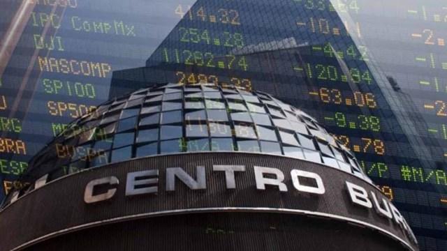 Detalle de la fachada de la Bolsa Mexicana