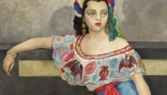 """El """"Retrato de Señorita Matilde Palou"""" de Diego Rivera. La imagen plasma a la actriz y cantante chilena que ganó fama en el cine mexicano, forma parte de la venta de arte latinoamericano de Sotheby's (AP)"""