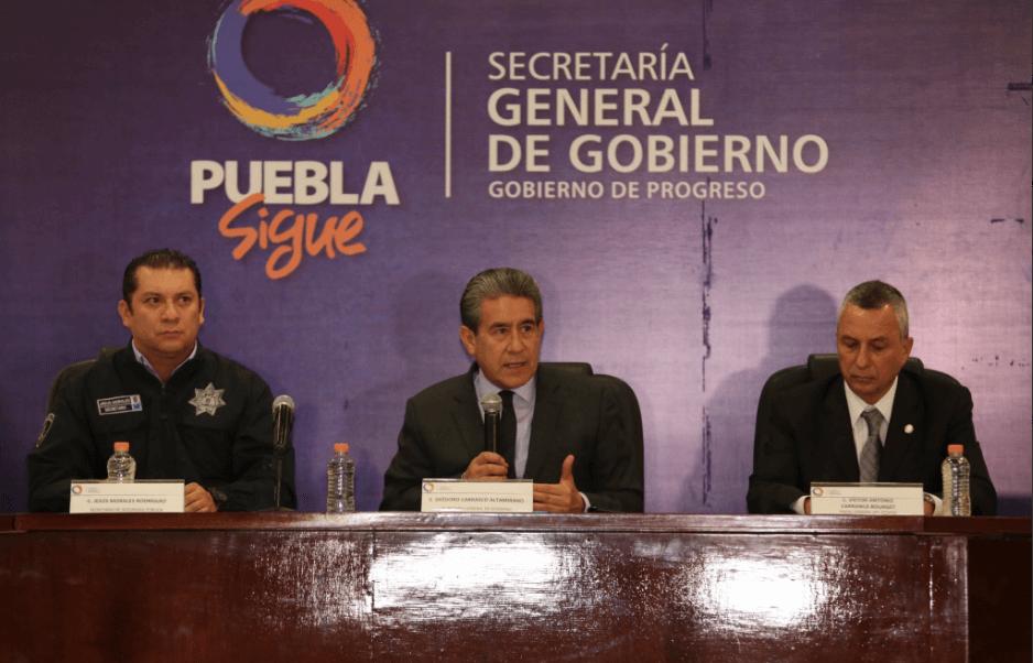 Diódoro Carrasco, secretario de Gobierno de Puebla. (@SGGPuebla)