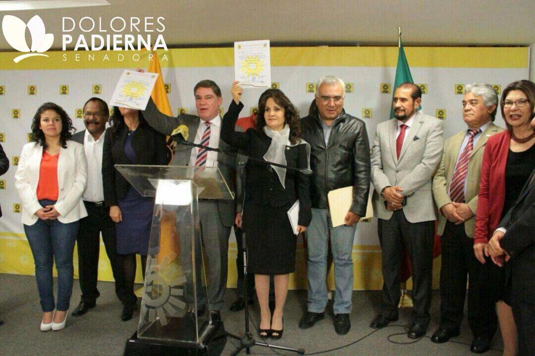 Dolores Padiera, la nueva coordinadora del PRD en el Senado
