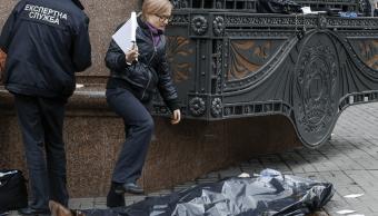 El asesinato del exdiputado ruso Denís Voronenkov se produjo en pleno centro de Kiev, Ucrania. (AP)