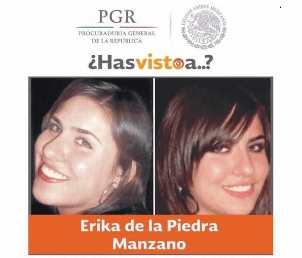 Érika de la Piedra desapareció al salir de un centro comercial ubicado en Avenida Cuauhtémoc en la Ciudad de México.