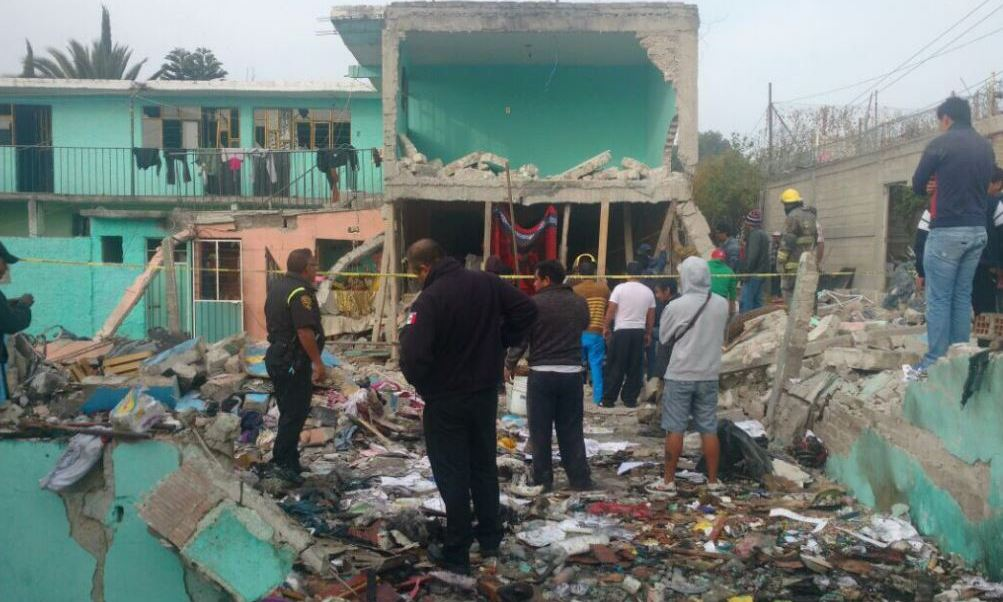 Una explosión en una vivienda en Tultepec causa la muerte de cuatro personas (Twitter @CruzRojaEM)