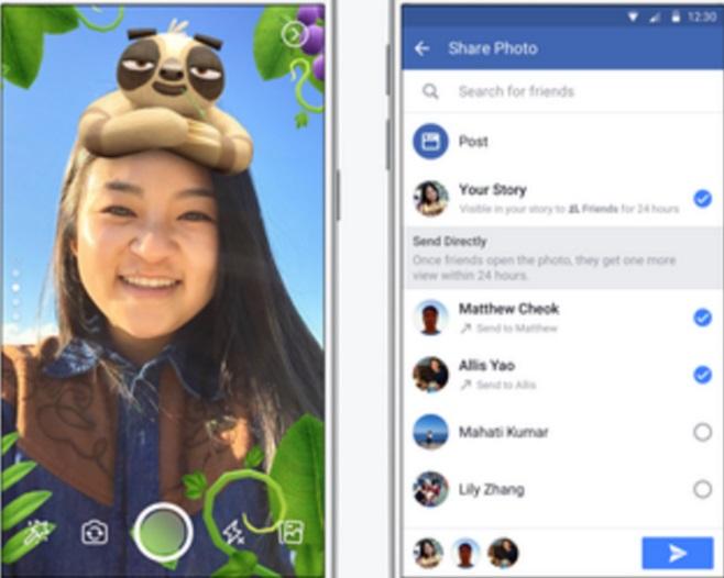 Facebook despliega una nueva cámara con efectos y dos maneras adicionales de compartir fotos y videos que los usuarios toman (Foto: Facebook)