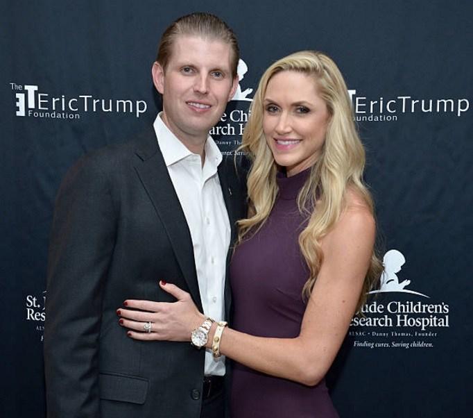 Eric y su esposa Lara Trump esperan su primer hijo en septiembre (Getty Images/archivo