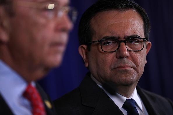 Ildefonso Guajardo, secretario de Economía, en reunión con Wilbur Ross, secretario de Comercio de Estados Unidos. (Getty Images, archivo)