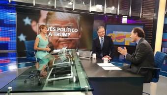 Javier Tello y el Reporte Trump, en la mesa de Despierta con Loret. (Twitter, @NTelevisa_com)