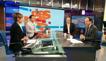 Javier Tello y su Reporte Trump, en la mesa de Despierta con Loret. (Twitter, @NTelevisa_com)