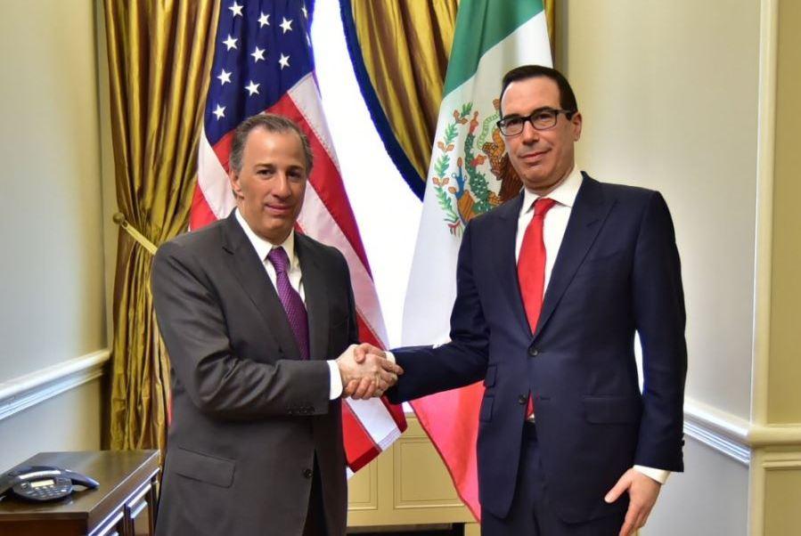 José Antonio Meade con Steven Mnuchin (Twitter @JoseAMeadeK)