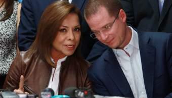 Josefina Vázquez Mota y Ricardo Anaya hablaron en instalaciones del PAN en el Senado de la República. (Notimex)