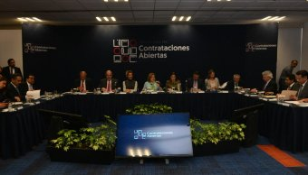 La secretaria Arely Gómez encabezó el Lanzamiento de la Alianza para las Contrataciones Abiertas. (Twitter @ArelyGomezGlz)