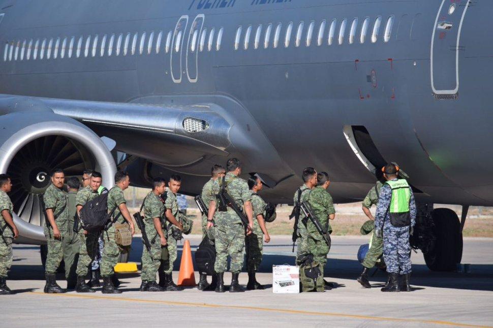 Llegan mil policías militares a Sonora. (Twitter @ssp_sonora)