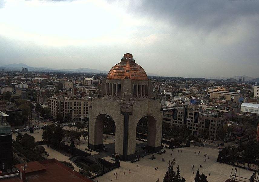 La Ciudad de México luce nublada. (@webcamsdemexico)
