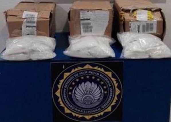 Las tres cajas de cartón con droga tenían como destino el municipio de Cuautitlán Izcalli, Estado de México (Secretaría de Gobernación)