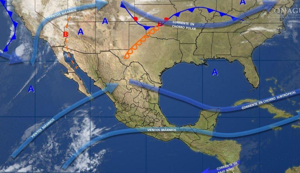 Mapa con el pronóstico del clima para este 21 de marzo; pronostican ambiente caluroso en gran parte de México. (SMN)